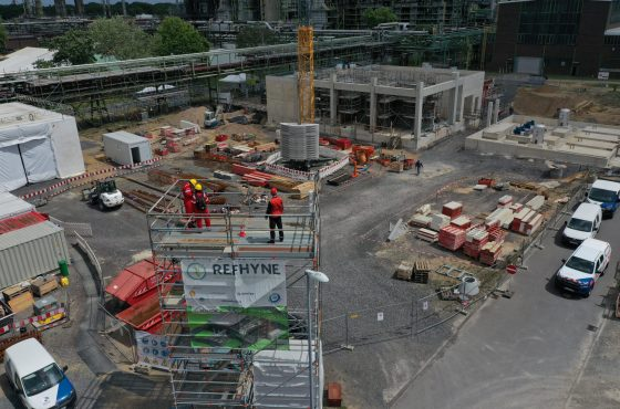 Construction is progressing well at the REFHYNE site